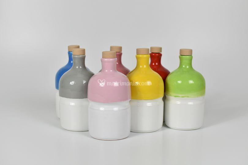 Bottiglie olio terracotta
