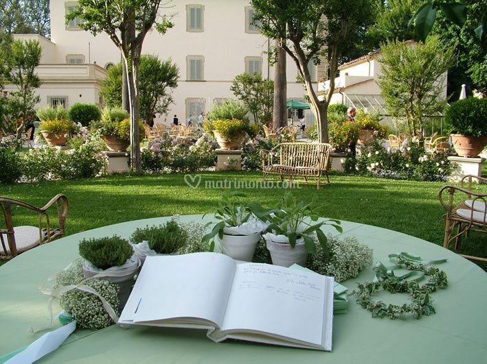 Il giardino esempio di allestimento