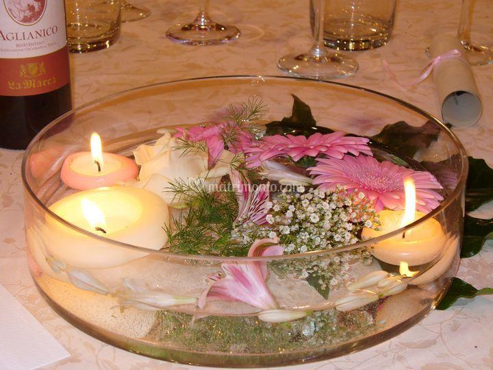 Centrotavola candele di mariflor foto 7 for Centrotavola matrimonio candele