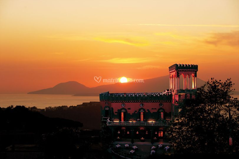 Villa in tramonto