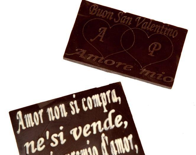 Biglietti in cioccolato