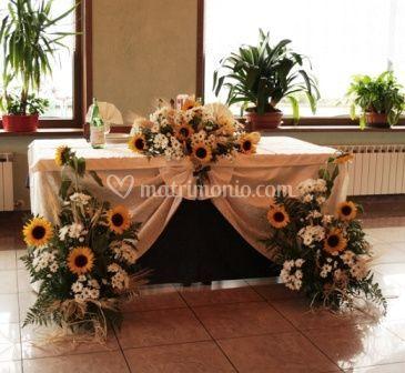 Esempio  di tavolo degli sposi
