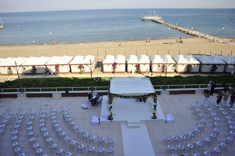 Ceremonica simbolica terrazza di Hotel Excelsior Venezia Lido | Foto 13