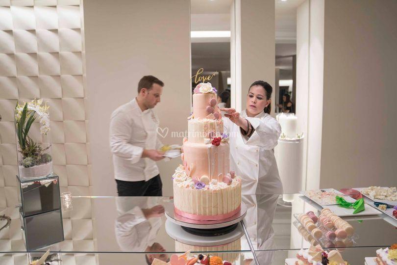Wedding cake swow