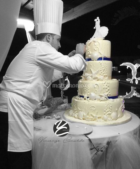 Cake in cioccolato bianco