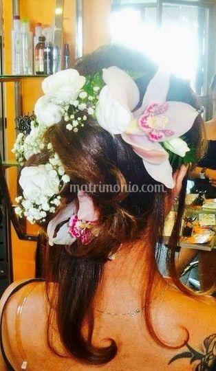 Acconciatura orchidee