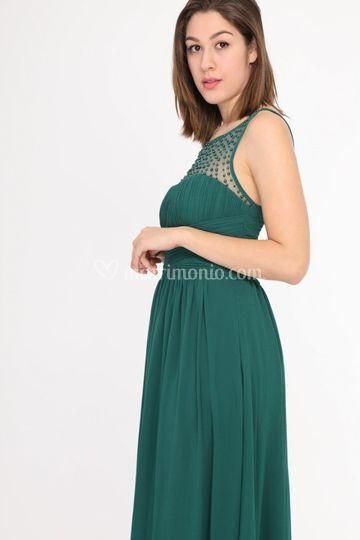 Dettaglio abito verde