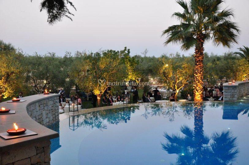 Villa delle querce for Cena in piscina