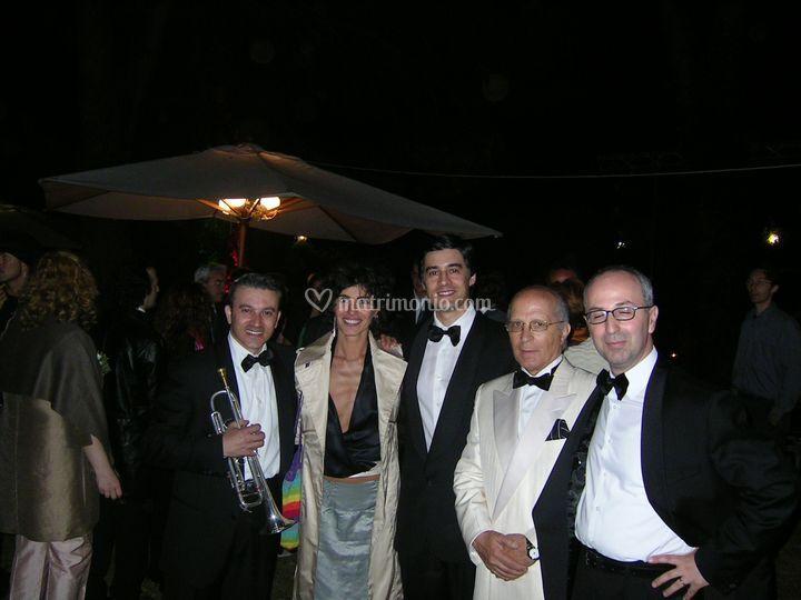 Matteo Bekos con Giorgia