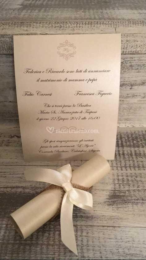 Partecipazioni Matrimonio Pergamena.Pergamena Invito Matrimonio Di Officina Creativa Hotglace Foto 94