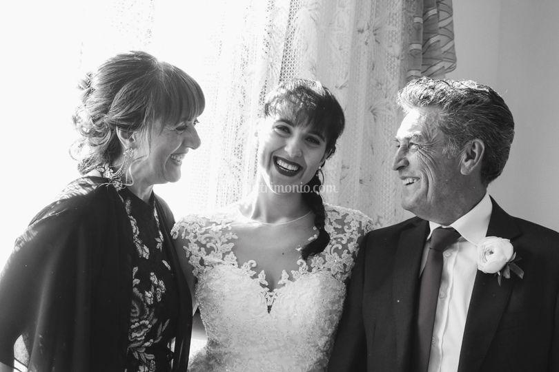 Giulia e i genitori