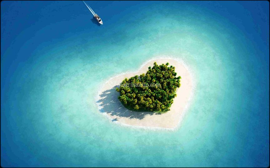 Il cuore alle Maldive