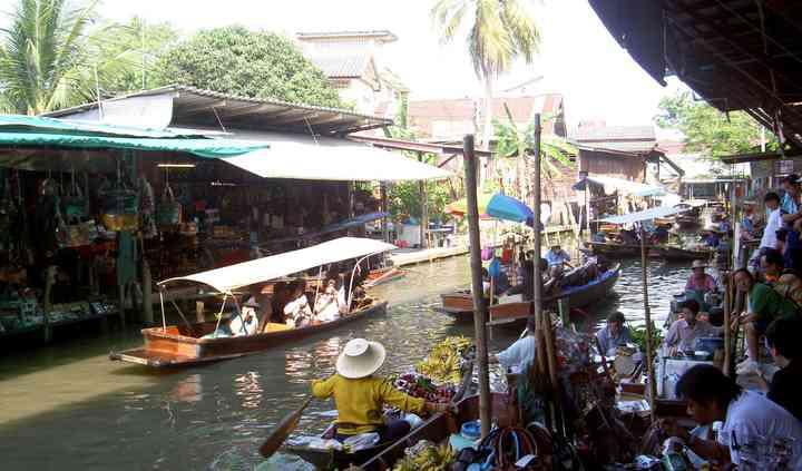Mercato Galleggiante Thailandia
