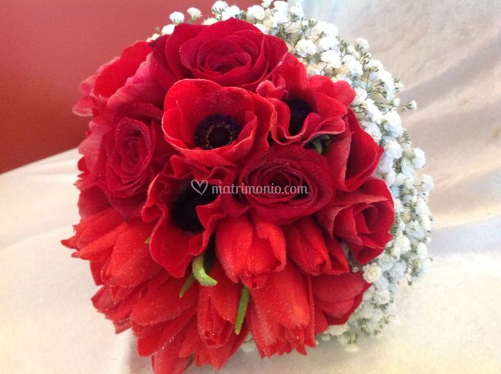Bouquet in rosso
