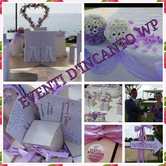 Wedding in lilla