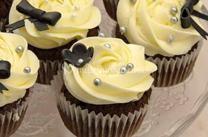 Cupcakes con perline silver