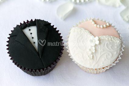 Cupcakes sposo e sposa