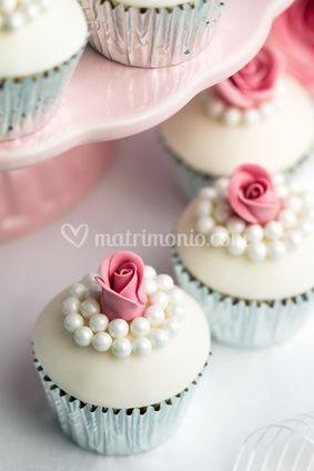 Cupcakes con rosellina e perle