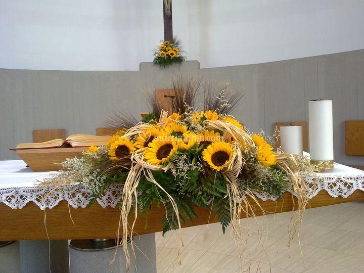 Matrimonio Girasoli Chiesa : I fiori di nadia
