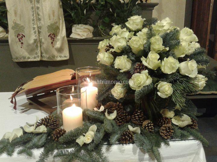 Altare in versione invernale
