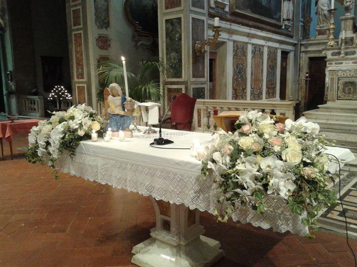 Fiori per altare