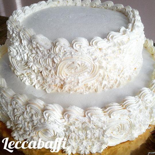 torta decorata con panna di leccabaffi di norelli monica