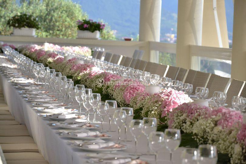Tavolo imperiale di Villa Gloria