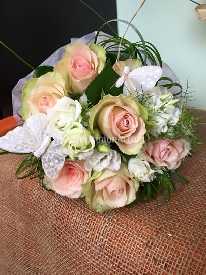 Bouquet: rose e lisianthus