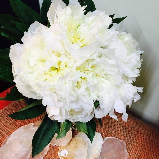 Bouquet sposa: peonie