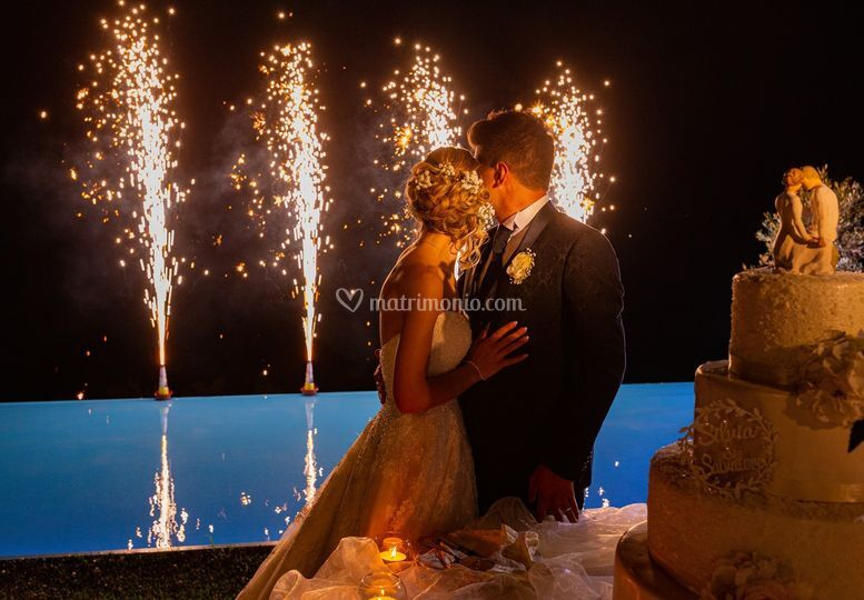 Taglio torta & fontane luminos
