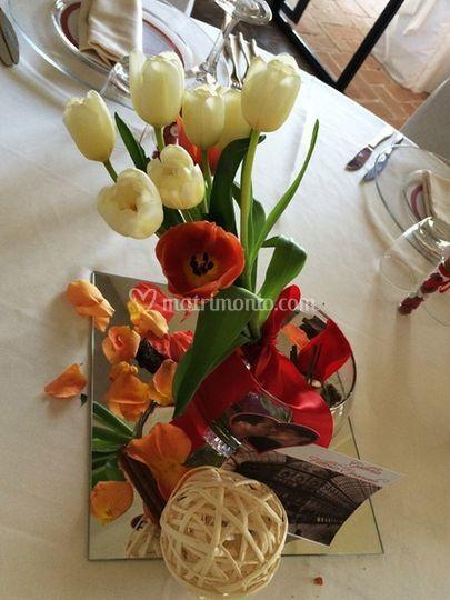 Centrotavola tulipani