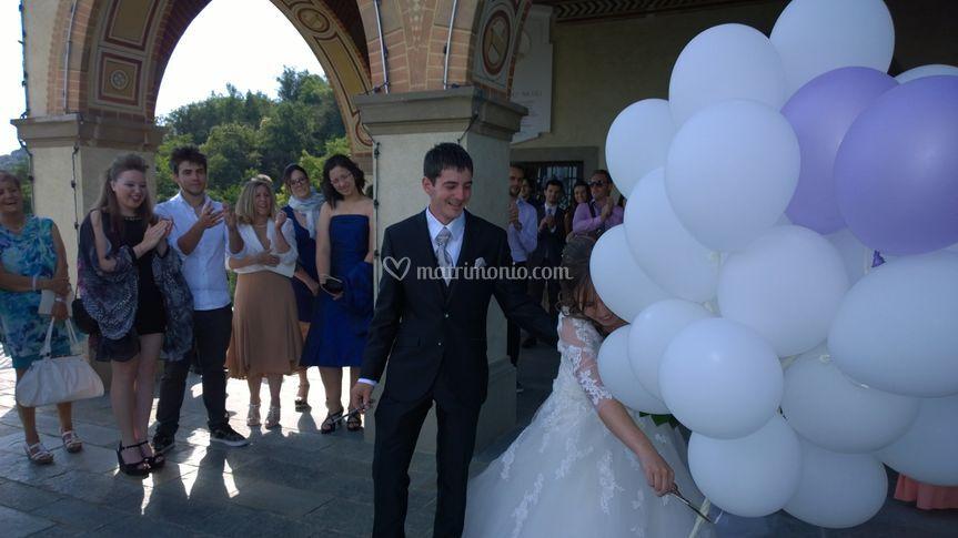 Wedding: Volo di palloncini
