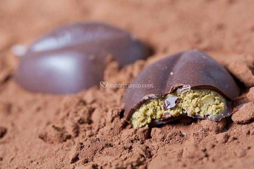 Fondente ripieno al pistacchio