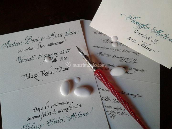Partecipazioni Matrimonio Scritte.Ketty Agnesani Calligrafa