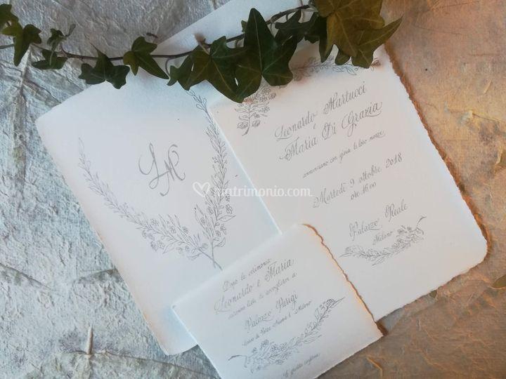 Costo Partecipazioni Matrimonio 2018.Ketty Agnesani Calligrafa