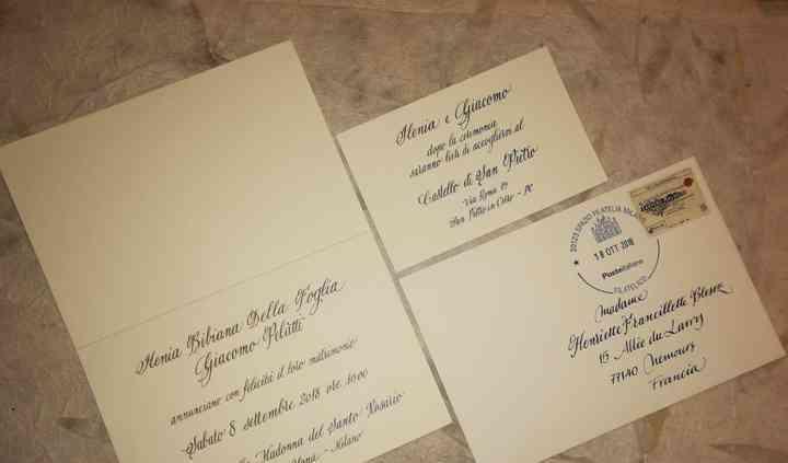 Set annuncio+invito+busta