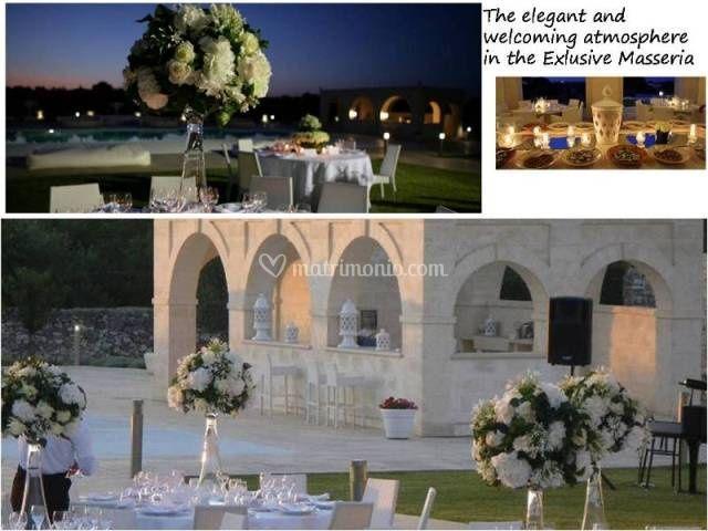 Atmosfera elegante ed accogliente è la scelta giusta per matrimoni esclusivi in Puglia.