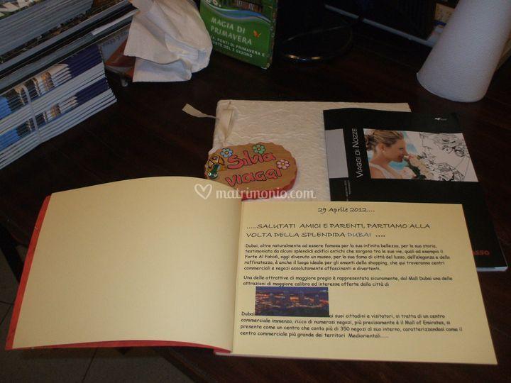 L'interno del  libro  dediche