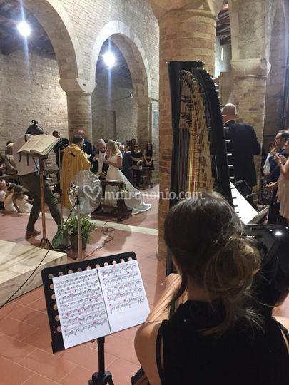 Rito religioso, arpa-flauto