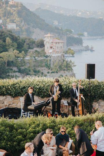 Jazz band live in Portofino