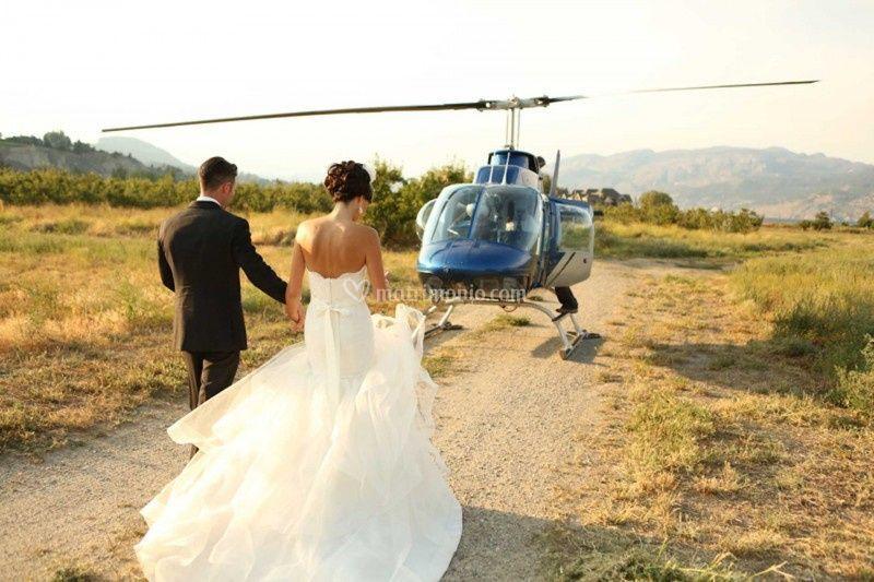 Sposarsi in elicottero