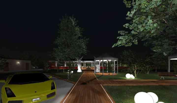Ingresso parco e area buffet