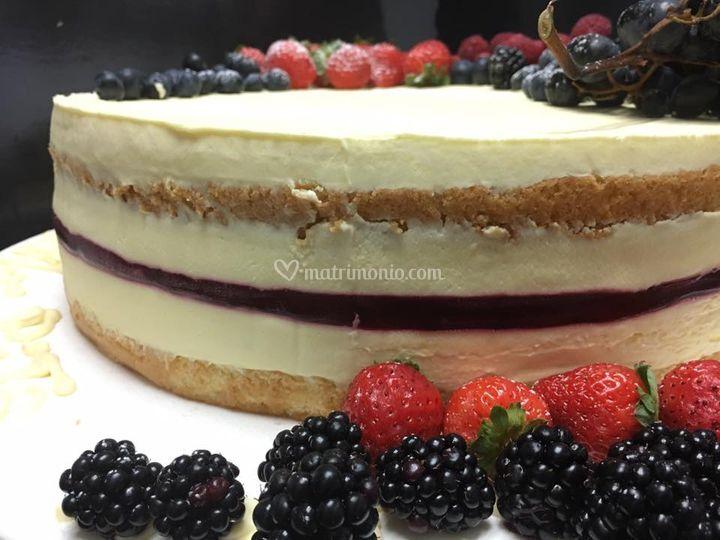 Cheese cake e frutti rossi