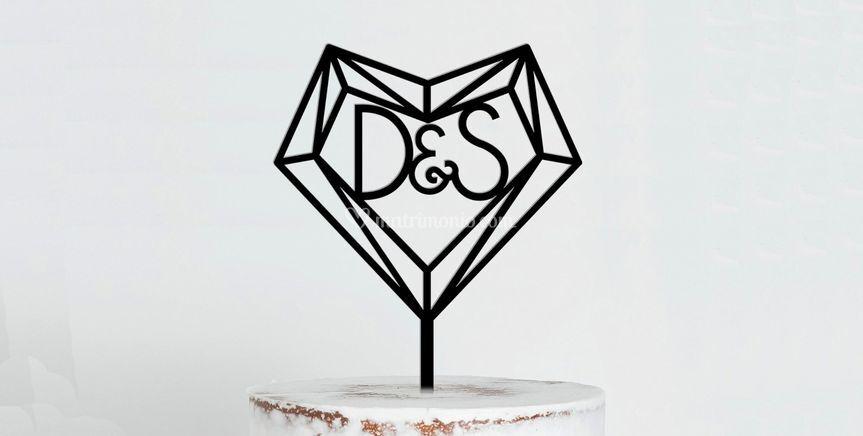 Logo cake topper