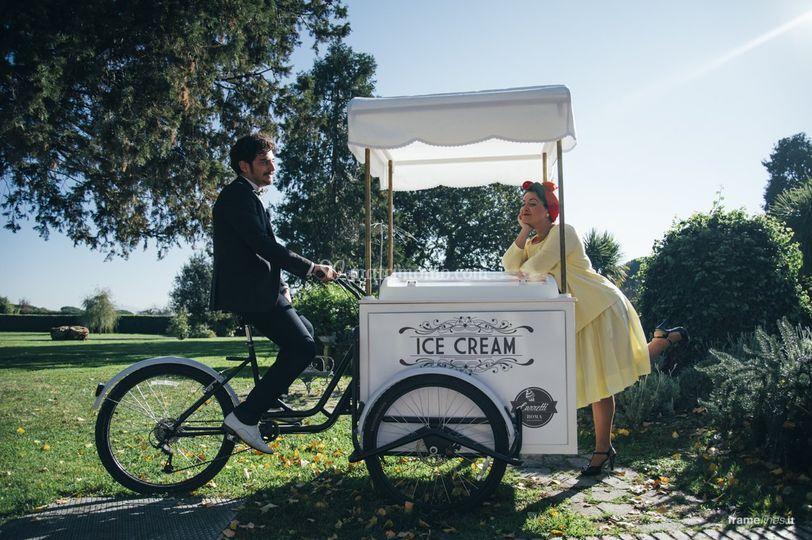 Carretto gelati matrimonio di carretti roma foto for Noleggio arredi bologna