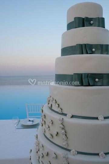 Wedding cake vista mare