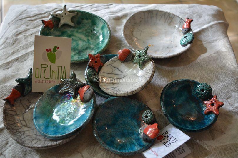 Ceramica Raku ciotoline in ceramica raku di opuntia putia   foto 11