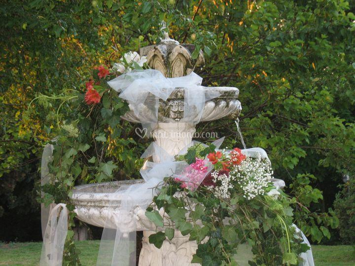 Villa crocioni - particolare fontana