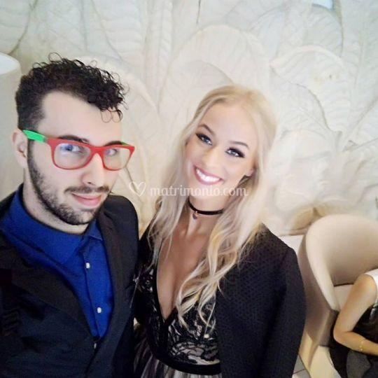 Nick con Miss Slovakia