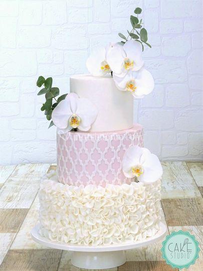 Wedding cake con orchidee